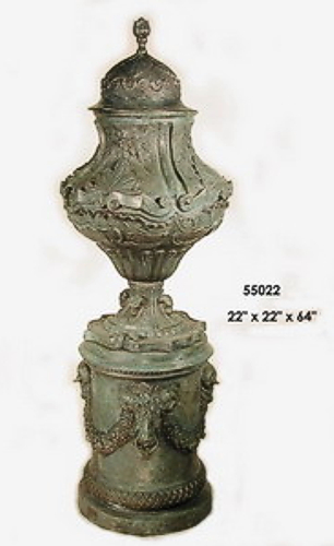 Bronze Pedestal Urn - AF 55022