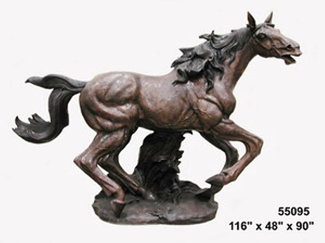Bronze Life-Size Galloping Horse Statue - AF 55095