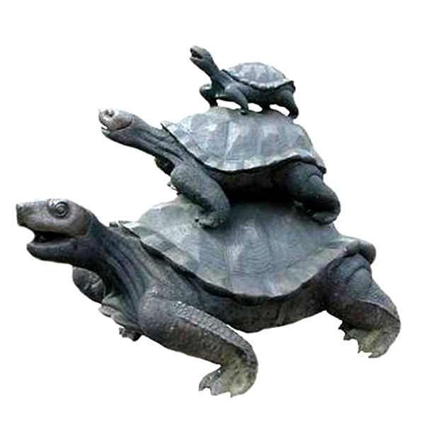 Bronze Turtle Family Fountain - AF 55170