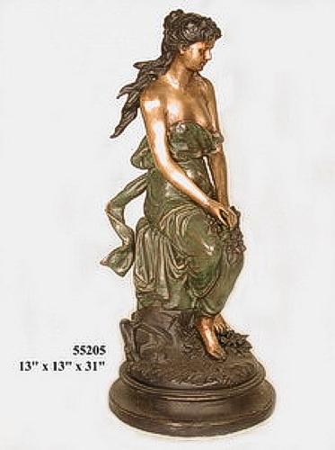 Bronze Lady Sitting Statues