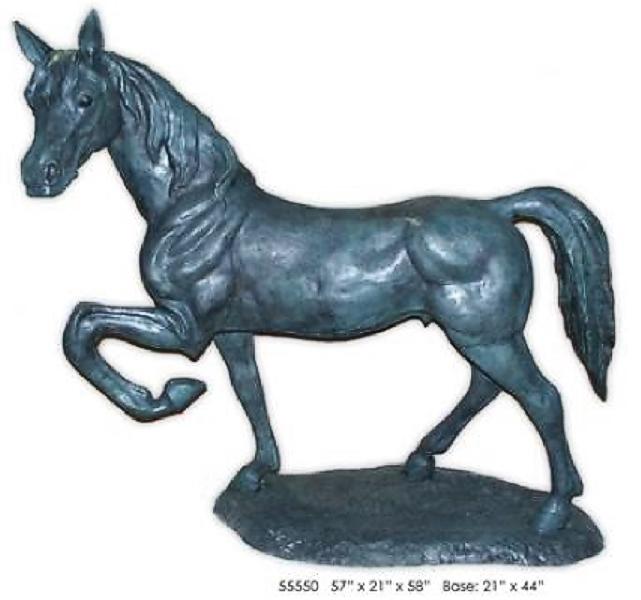 Prancing Bronze Horse Statue - AF 55550
