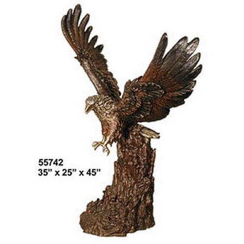 Bronze Eagle Bird of Prey Statue - AF 55742
