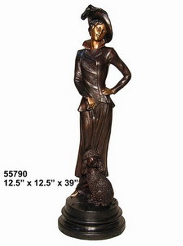 Bronze Fashion Lady Statues