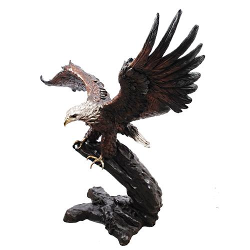 Flying Bronze Eagle Statue - AF 55846TS