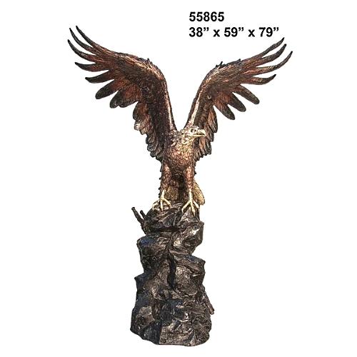 Bronze Eagle Statue - AF 55865