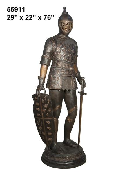 Bronze Knight Statue - AF 55911