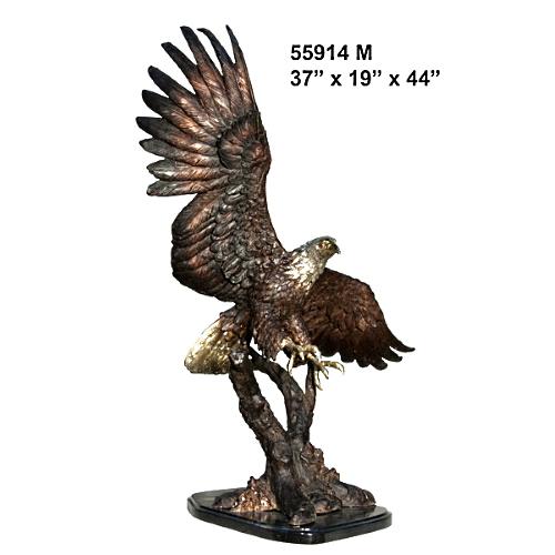 Bronze Hunting Eagle Statue - AF 55914M