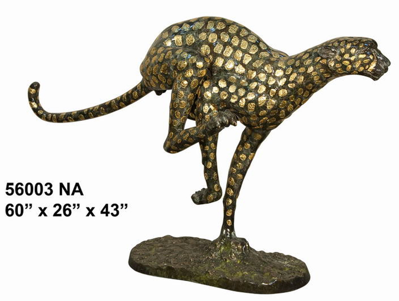 Bronze Leopard Statues - AF 56003NA