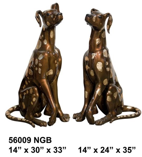 Bronze Dog Statue - AF 56009NGB