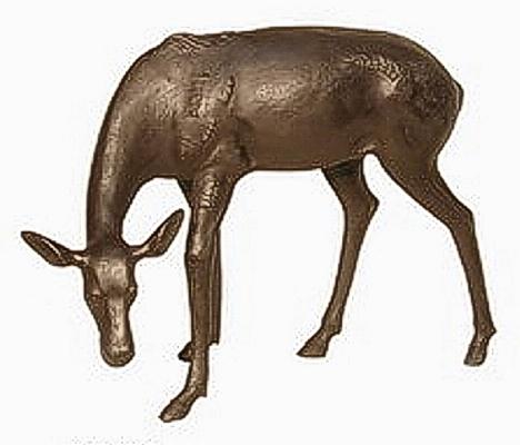 Bronze Doe Statue - AF 56013B