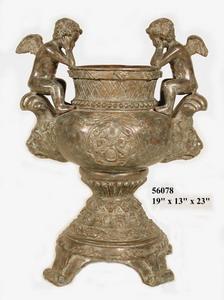 Bronze Cherubs Urn - AF 56078