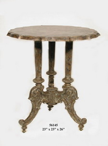 Bronze Decorative Round End Table - AF 56145