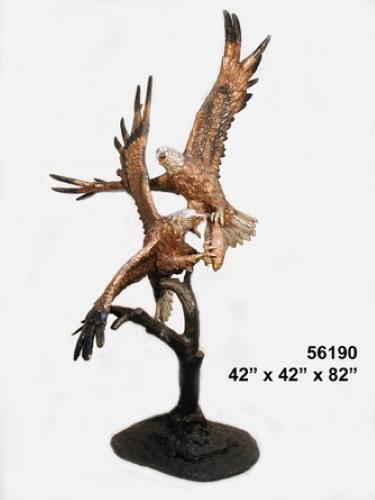 Bronze Fighting Eagles Statue - AF 56190