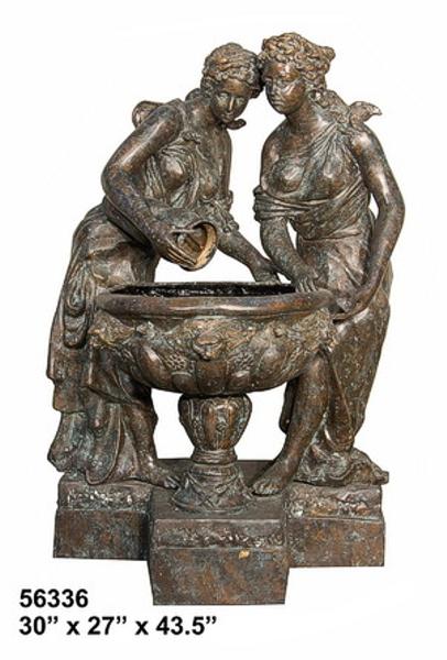 Bronze Ladies Fountain - AF 56336