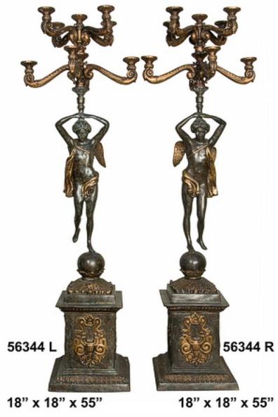 Bronze Angels Torchiere - AF 56344
