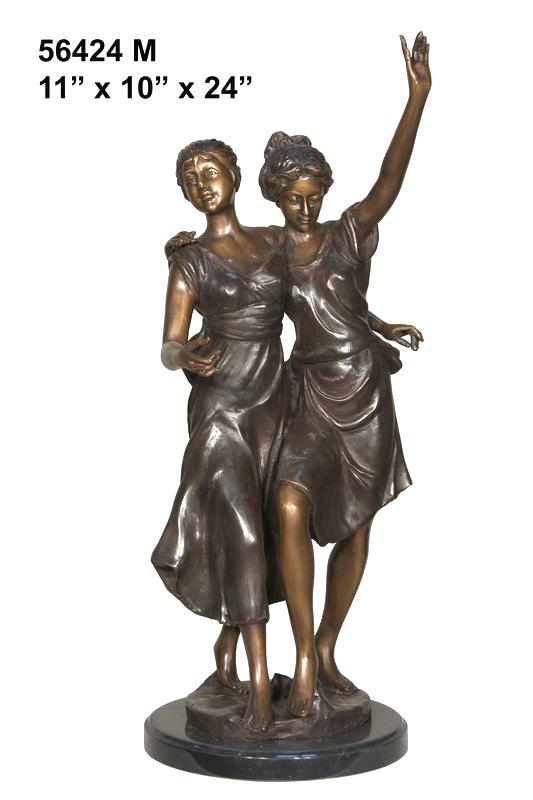 Bronze Dancing Ladies Statue
