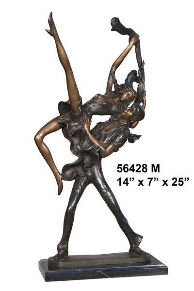 Bronze Dancers Statue - AF 56428M