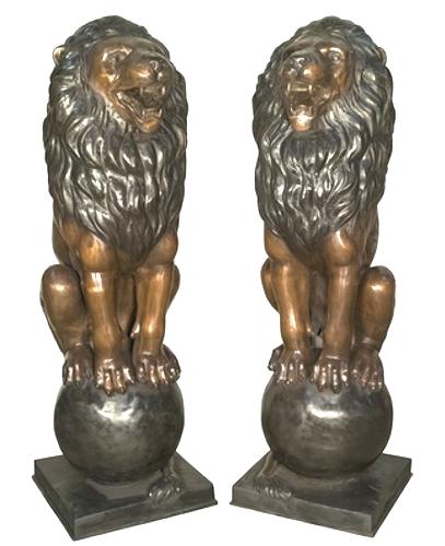 Bronze Lion Statues - AF 56568