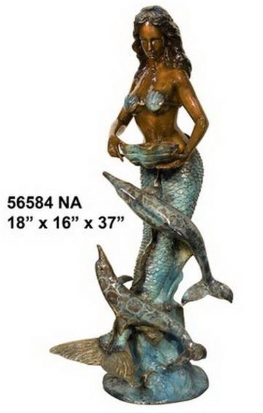 Bronze Dolphin Fountains - AF 56584NA