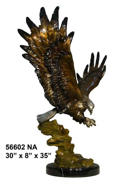 Bronze Eagle Statues - AF 56602NA