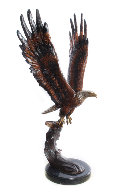 Bronze Eagle Statues