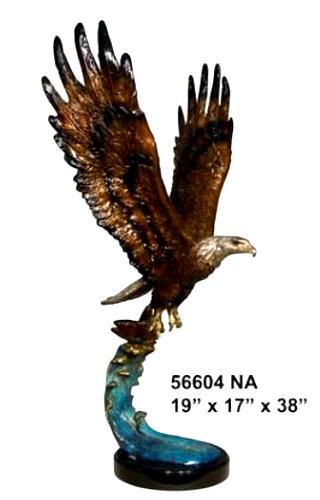 Bronze Eagle Statues - AF 56604NA