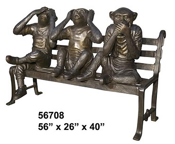 Bronze Monkey Benches - AF 56708