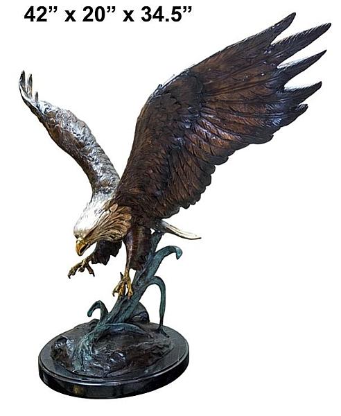 Bronze Eagle Statues - AF 56751