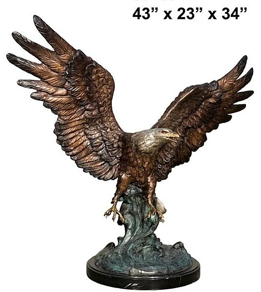 Bronze Eagle Statues - AF 56759