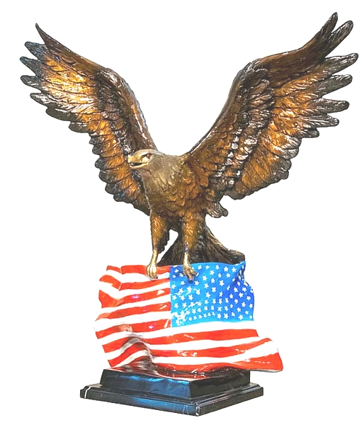 Bronze Eagle Statues - AF 56770 NA