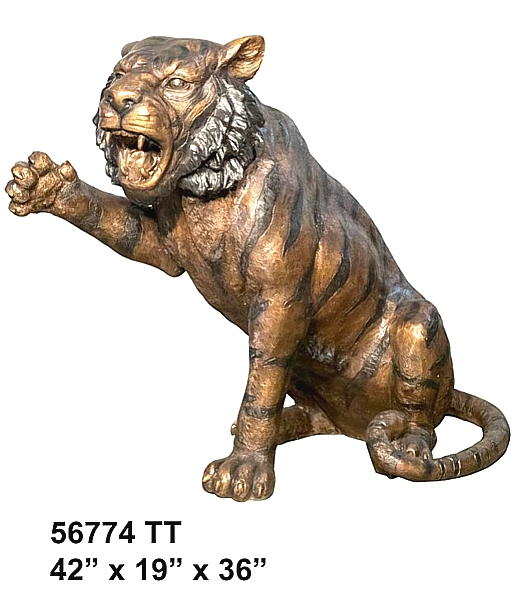Bronze Tiger Statues - AF 56774 TT