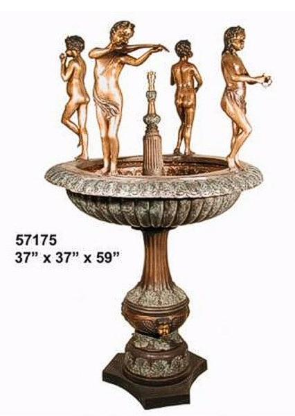 Bronze Children Musical Fountain - AF 57175