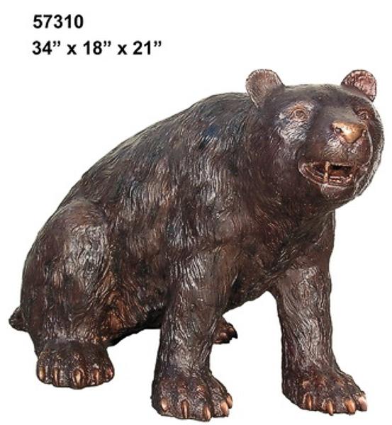 Bronze Bear Statues - AF 57310