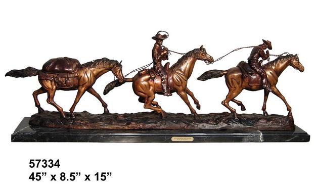 Bronze Horse Statues - AF 57334M