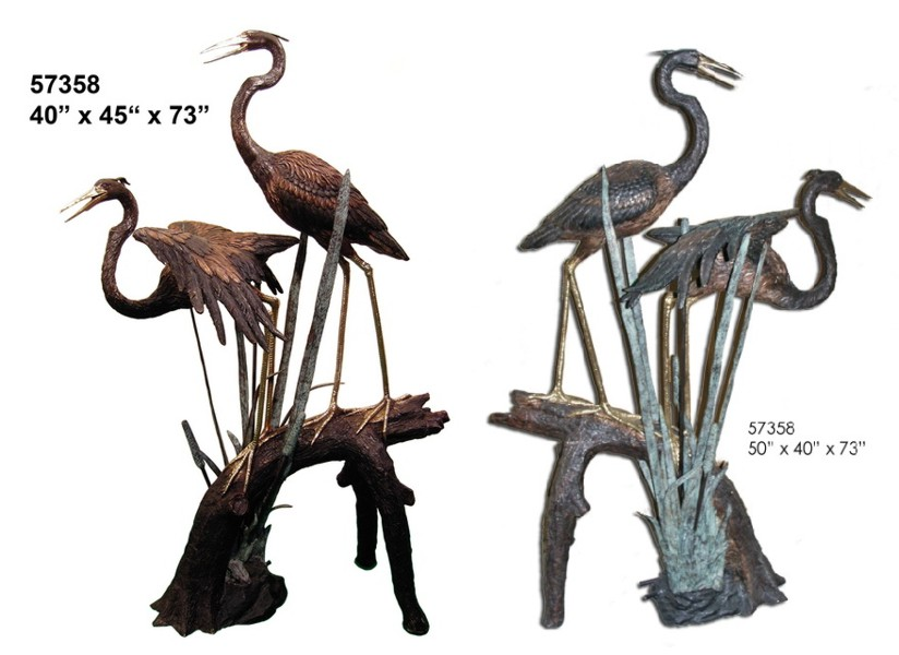 Bronze Heron Fountains