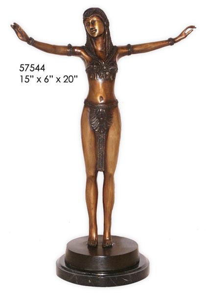 Bronze Dancing Lady Statue - AF 57544