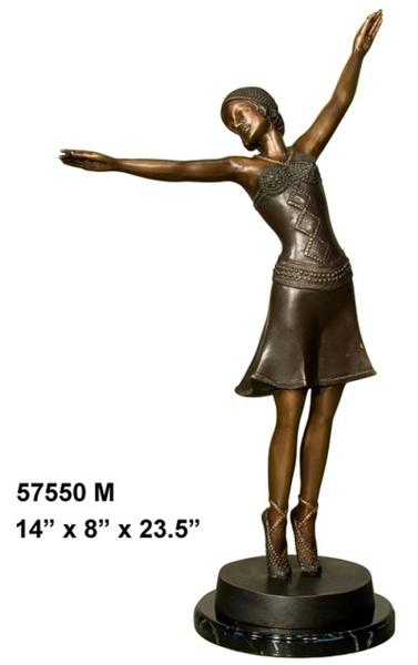 Bronze Dancing Lady Statue - AF 57550M