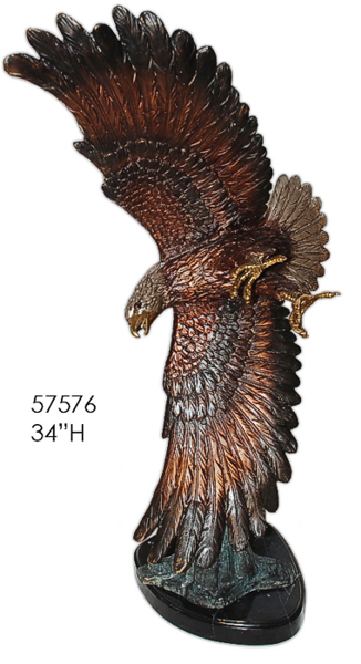 Bronze Eagle Statues - AF 57576