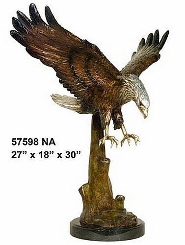 Bronze Eagle Statues - AF 57598