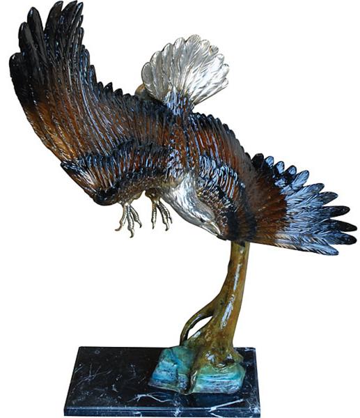 Bronze Eagle Statues - AF 57619NA