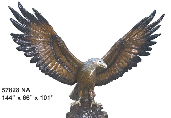 Majestic Large Bronze Eagle Statue - AF 57828