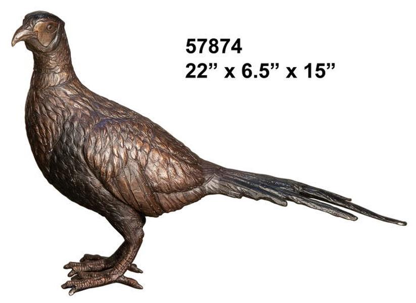 Bronze Grouse Statue - AF 57874