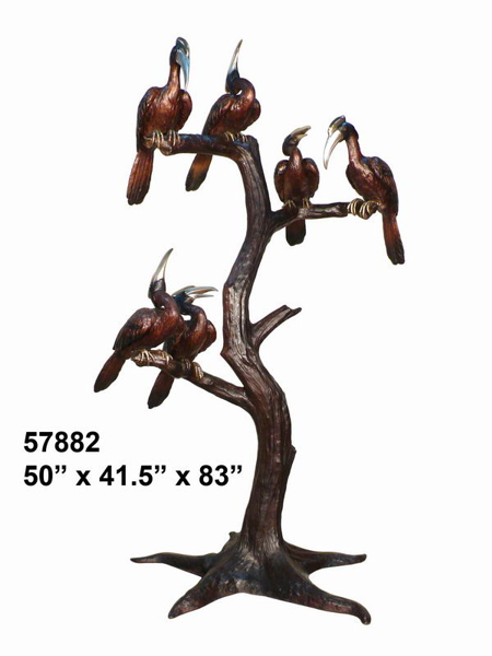 Bronze Birds Statues - AF 57882