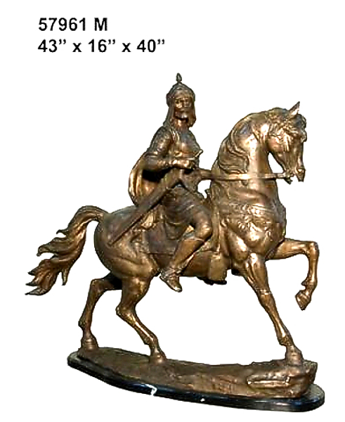 Bronze Knight on Horse Statue - AF 57961