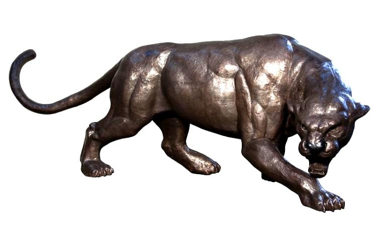Bronze Stalking Panther Statue - AF 57997