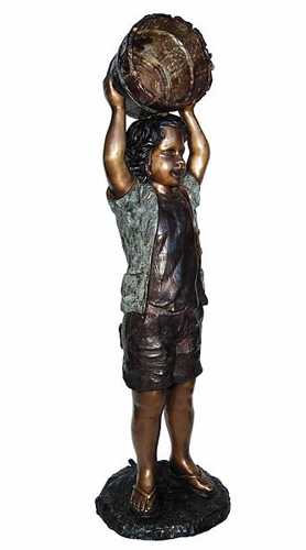 Bronze Boy with Bucket Fountain - AF 58402