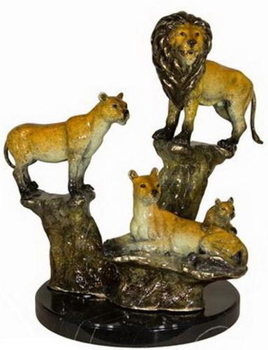 Bronze Lion Statues - AF 58572NA