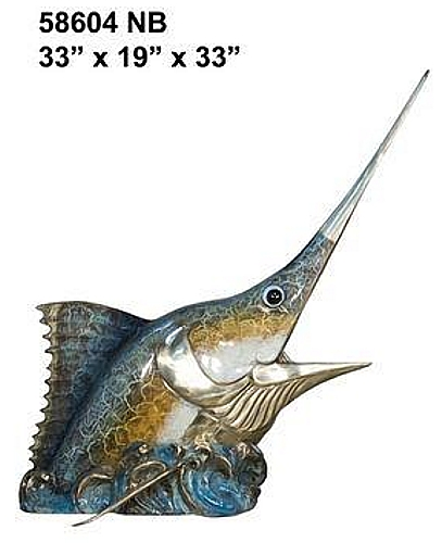 Bronze Sailfish Sculpture Statue - AF 58604NB