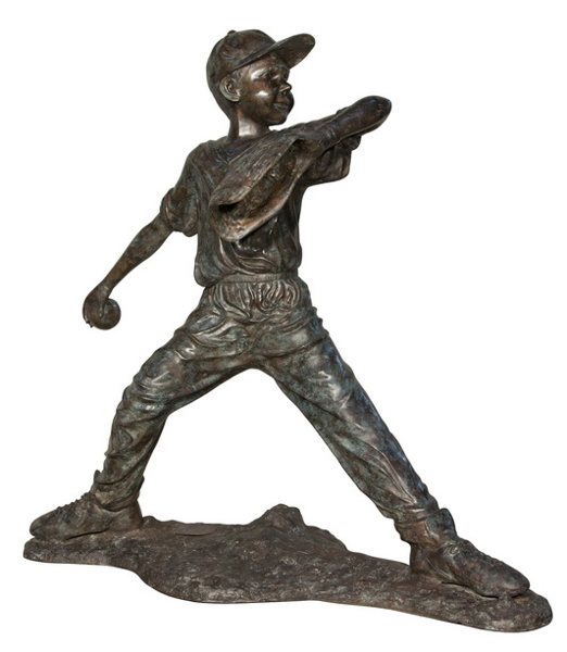 Bronze Baseball Pitcher Statute - AF 58636