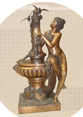 Bronze Lady Bowl Foutain - DD 6018